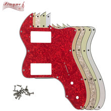 Pleroo-Guitar-Parts Pickguard Thinline Guitar Scratch-Plate for 13-Holes Tele with PAF