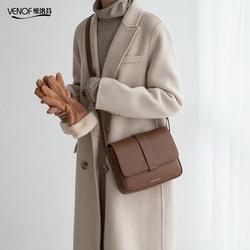 VENOF Marke Frauen split Leder umhängetaschen Casual Vintage Weichen Rindsleder Haut Schulter Taschen mode umhängetasche Hohe Qualität