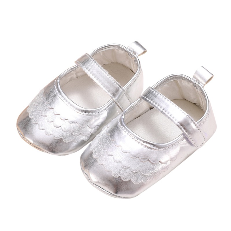 Newborn Baby PU Bright Face Spring Autumn Baby Girl Princess Shoes Children Toddler First Walker 0-18M
