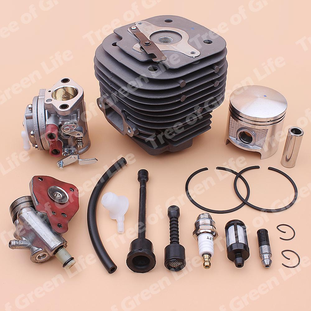 Tools : 58mm Cylinder Piston Carburetor Kit For Stihl 070 090 Fuel Oil Filter Line Pump Chainsaw 1106 020 1211
