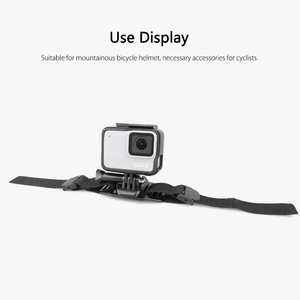 Image 5 - Vamson עבור ללכת פרו גיבור 7/6/5/8 מתכוונן אופני קסדת ראש רצועת חגורת הר בעל מתאם עבור Xiaomi יי 4K אוסמו פעולה VP201X