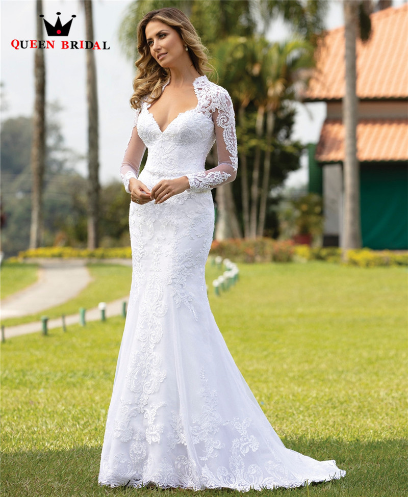 Custom Made 2020 New Design Wedding Dresses Long Sleeve Detachable Skirt Tulle Lace Crystal Sexy Luxury Wedding Gowns CO16