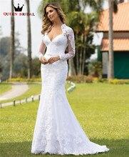 Robe de mariée de luxe à manches longues, en Tulle et dentelle détachables, nouveau Design sur mesure, robe de mariage de luxe, CO16, 2020