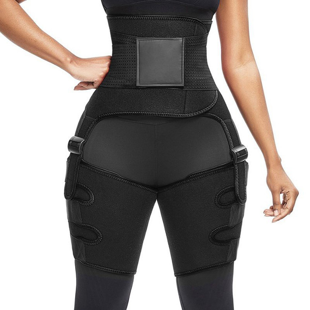 New Gym Fitness Belt Women Plus Size Leg And Waist Trainer Belt High Waist Bodybuilding abdomen Sweat Waist Trimmer Slim Shaper 5