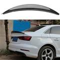Автомобиль стиль для Audi A3 седан спойлер A3 S3 Углеродного Волокна Задняя накладка на Багажник крыло стекло черный отделка 2013-2017 для A3