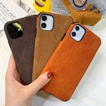 Leather Phone Case For Iphone 7 8 6 6s Plus 5s Se Back Cover Capa For Iphone X Xs 11 Pro Max Xr 12 Mini