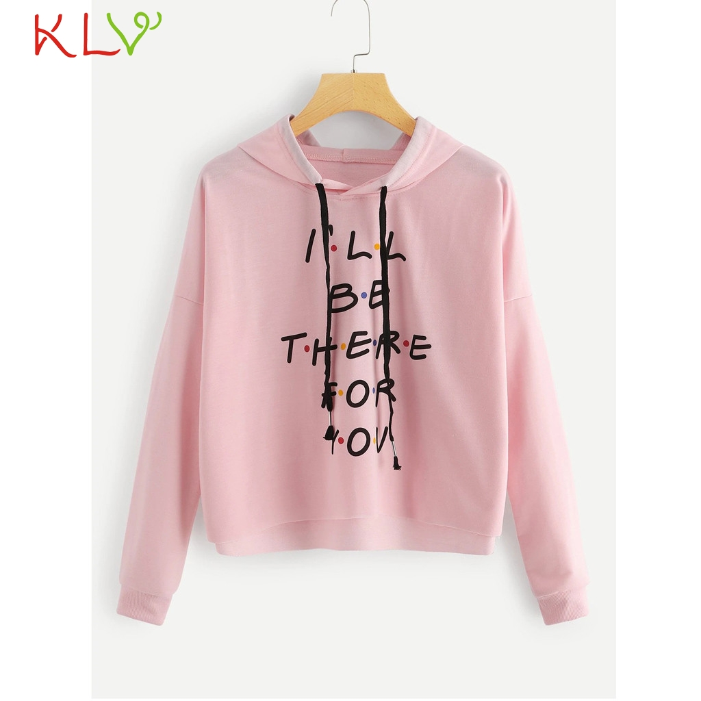 Women Sweatshirt Hoodies Letters Print Kpop Hoodie Fleece Harajuku Autumn Winter Hip Hop Sweatshirts Black Pink Pullover 19Aug