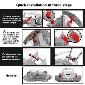 Image 5 - AOOA Aluminium Bremsscheibe Sattel Abdeckung Für Hyundai IX25 Elentra Sonata Veloster