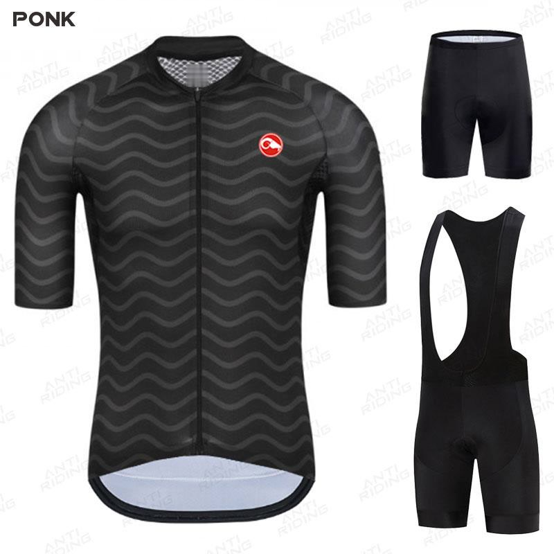 2020 Road Bike Jersey Set Men's Cycling Clothing Summer MTB Team Clothes Short Sleeve Uniform Triathlon Skinsuit Ropa De Hombre