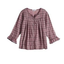 CupofSweet Pink Ruffled Cropped Sleeves Dolly Tops Shirt Girls Clothing 2019 Autumn Long Casual Kids Top Tee Girl Shirts