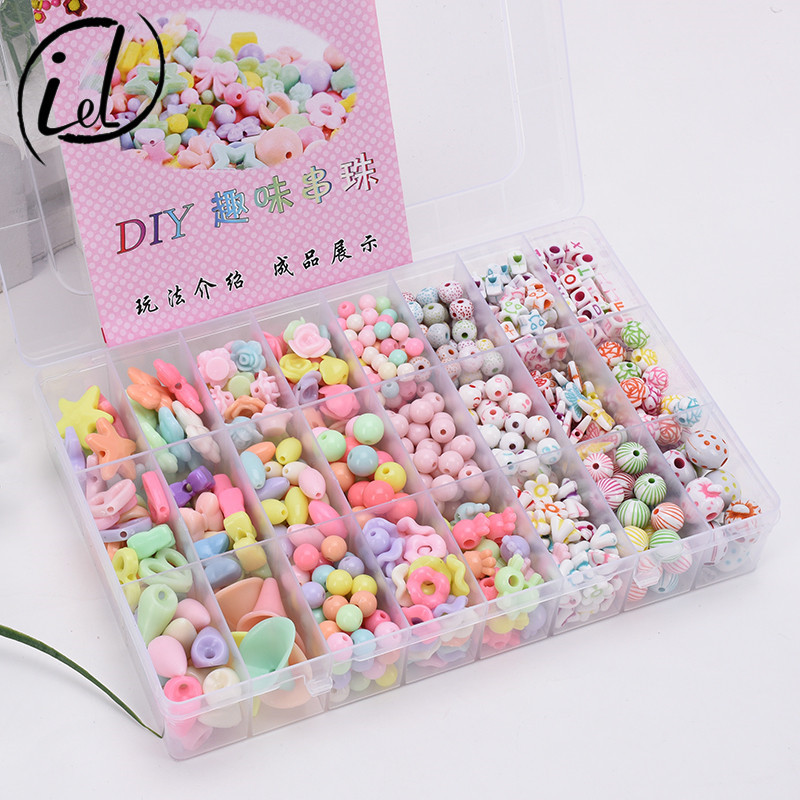 24 Lattice Beaded Bracelet Jewlery Box Children DIY Bead Educational Toy Necklace GIRL'S Gift Bracelets