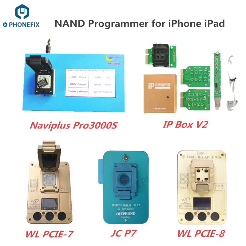 Naviplus Pro3000S iP Box JC Pro1000s PCIE NAND Programmer HDD SN Read Write Repair for iPhone iPad NAND Flash Memory Upgrade
