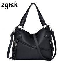 Female Women Shoulder Bags Luxury Pu Leather Tote Bags For Women Designer Handbags Black Casual Ladies Bag Sac Main Femme стоимость