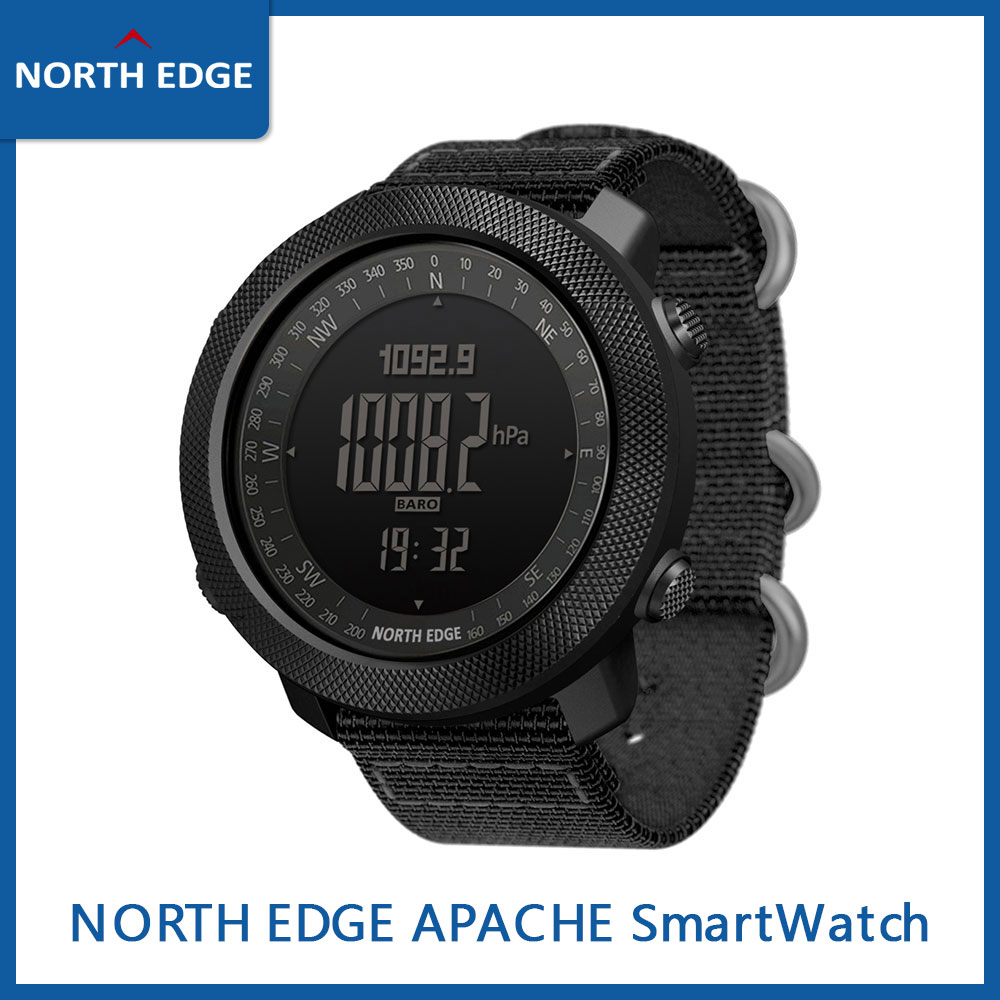 NORTH EDGE APACHE Smart Watch Men's Sports Digital Watch Atmospheric Altimeter Barometer Compass Alarm Reminder Army Waterproof