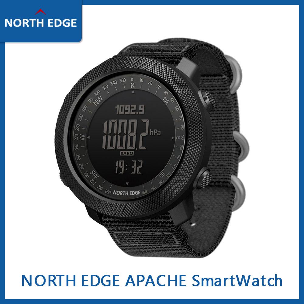 NORTH EDGE APACHE Smart Watch Men's Sports Digital Watch Atmospheric Altimeter Barometer Compass Alarm Reminder Army Waterproof