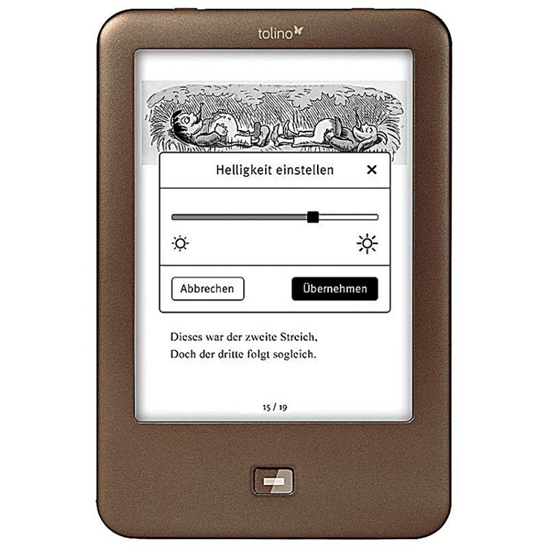 ebook reader e ink e reader Light electronic Book 6 inch e-ink e book reader 1024x758 backlight 4GB e-book Reader Tolino Shine