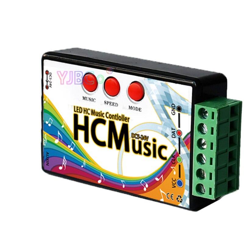 Full color SPI music controller 5V~24V WS2811 2811/1903 IC magic led strip light module point source led lamp tape controller