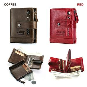 Image 5 - HUMERPAUL Genuine Leather Wallet Fashion Men Coin Purse Small Card Holder PORTFOLIO Portomonee Male Walet for Friend Money Bag