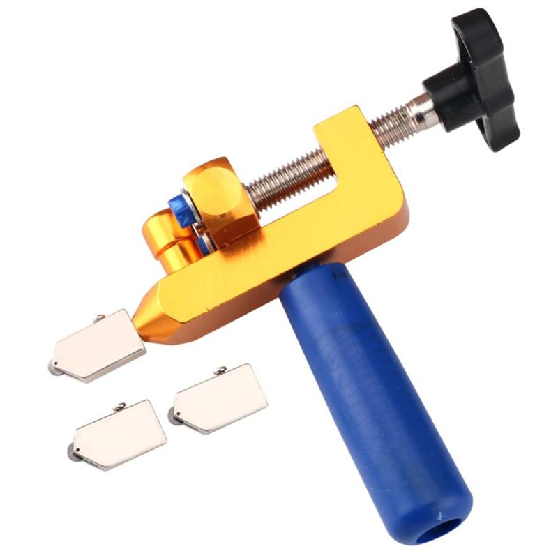 Glass Roller Cutter Tile Breaker Opener With Spare Cutter Heads Handheld Labor-saving Sharp Ceramic Tile Cutting Tools