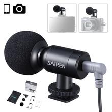 Ulanzi-Mini micrófono de grabación para cámara Gopro 8, 7, 6, Vlog, Smartphone, SLR, Sony A6400, A6300
