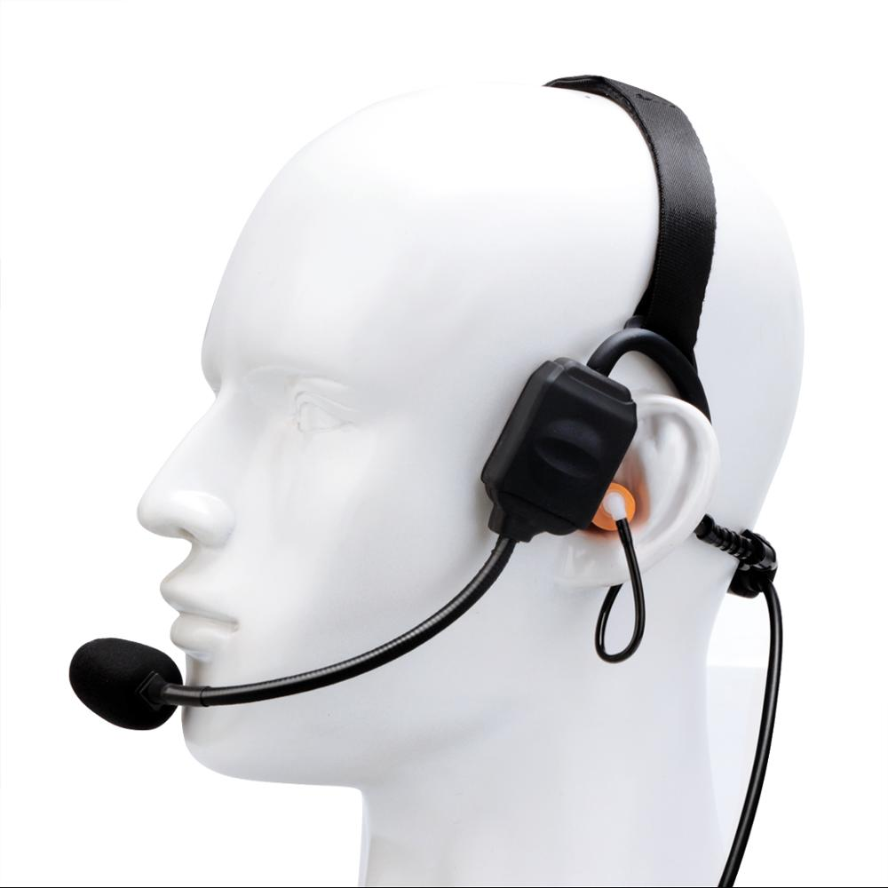 Retevis EB020K 2 Pin Waterproof Bone conduction Noise canceling headset for Kenwood