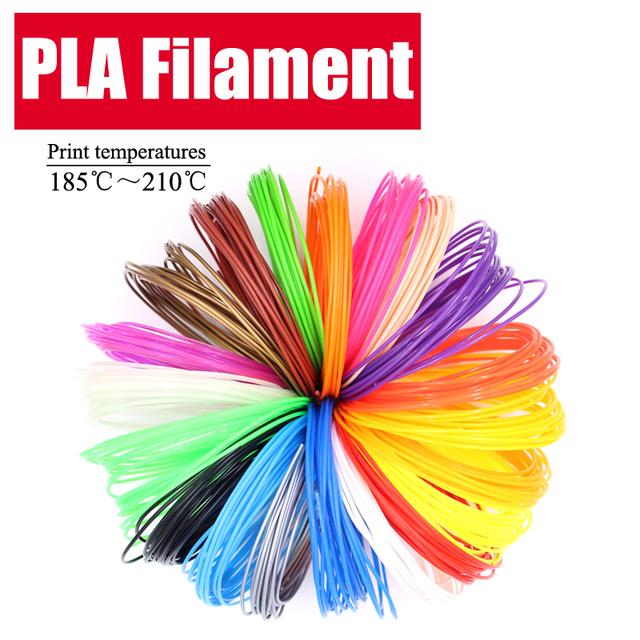 LIHUACHEN 3d pen filament PLA 1.75mm 20/30Colors 3D Printer Filament Materials For 3D Printing Pen 10 Colors 3D Printer Material