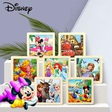 Disney детские развивающие игрушки из дерева 3d Пазлы Микки