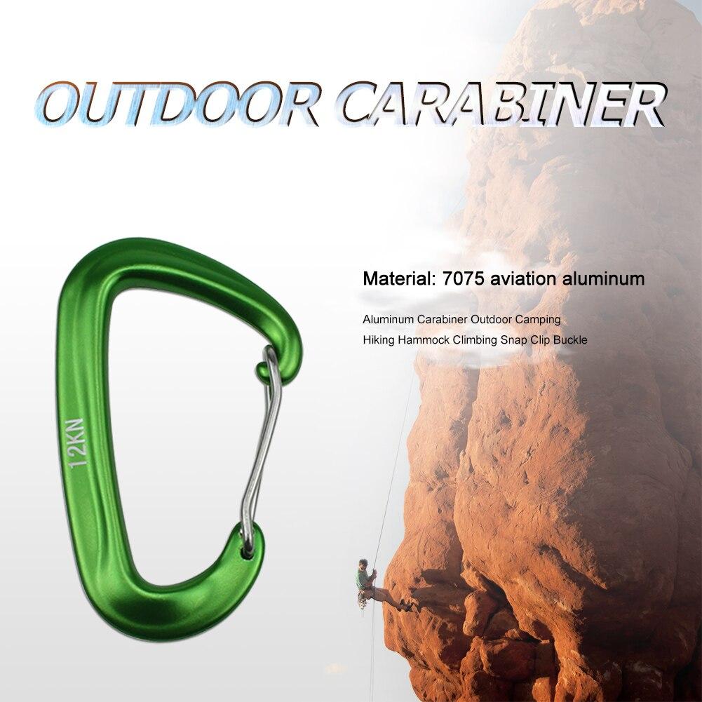 Aluminum Carabiner Outdoor Camping Hiking Hammock Climbing Snap Clip Buckle