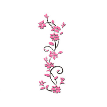 Pink purple red flower Tree Wall Stickers Decals Girls Women Flower Mural Vinyl Wallpaper Home Living Room Bedroom Decor 9