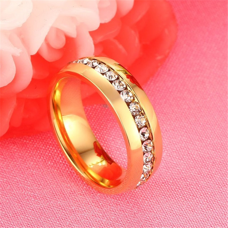 ZORCVENS Classic Engagement Wedding Rings For Women Men Jewelry Stainless Steel Couple Wedding Bands Fashion Brands Jewelry 4