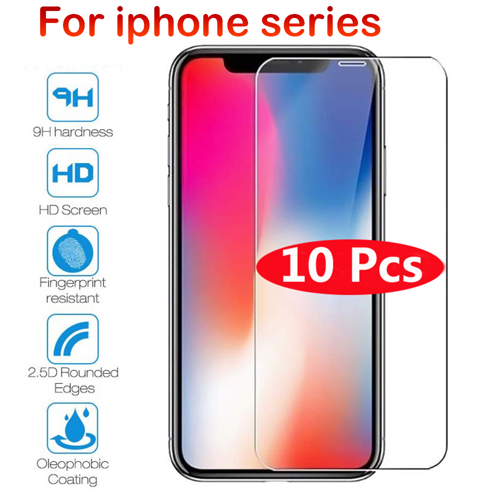 Screen-Protector Glass Protective-Glass iPhone 7 6s-Plus 8 4 for 10pcs Max-Xr X-X-Xs