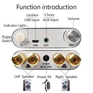 Image 2 - ZK 1002D 블루투스 5.0 무선 스테레오 오디오 전력 증폭기 보드 TPA3116D2 100W + 100W 자동차 앰프 Amplificador 홈 시어터 AUX USB