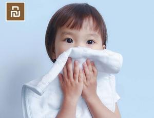 Image 4 - 2 قطعة/الحقيبة Youpin ZSH منشفة الأطفال سلسلة طفل خاص غسل القطن لينة للأطفال مدرسة المنزل الطفل منشفة