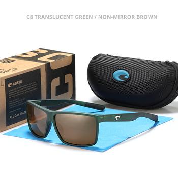 9209 Costa Square okulary spolaryzowane metalowe logo lustrzane szkła mężczyźni marka projekt jazda samochodem łowienie ryb okulary UV400 letnie odcienie tanie i dobre opinie Z tworzywa sztucznego Plac Lustro Antyrefleksyjną Dla dorosłych 61mm 42mm