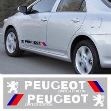 2 шт декоративные наклейки для кузова автомобиля peugeot 107