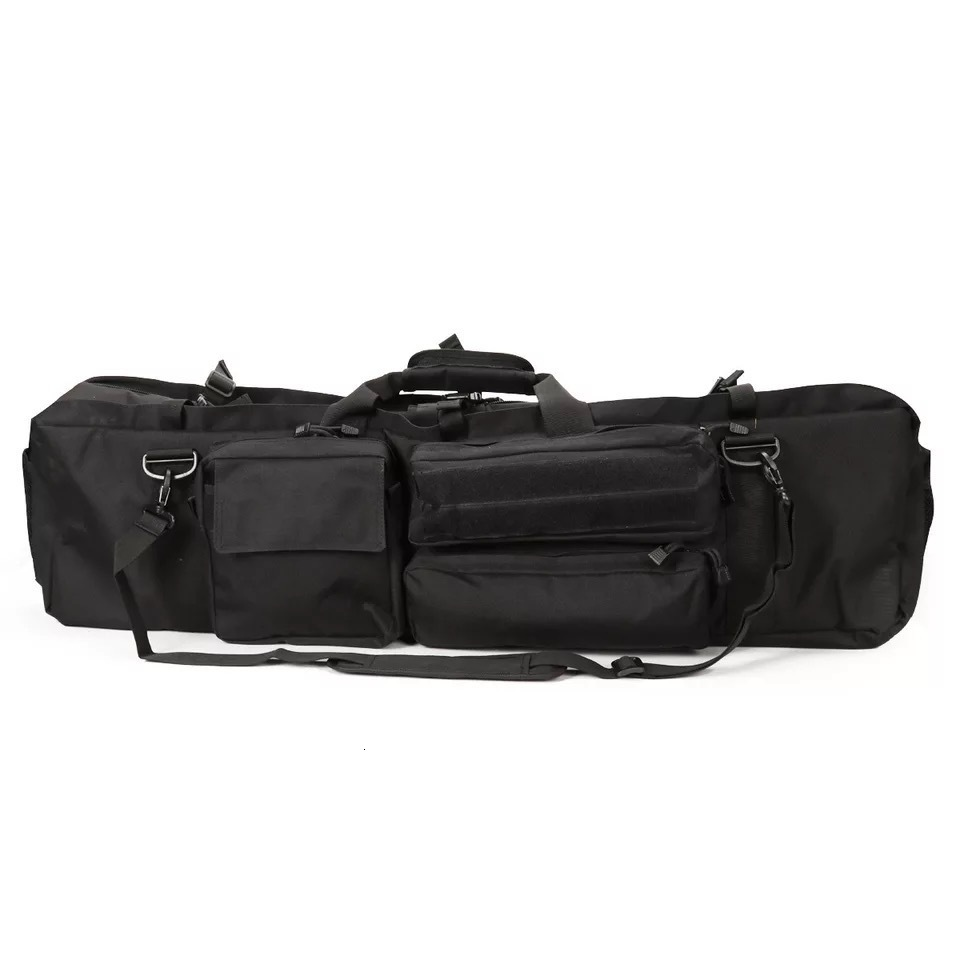 Black Tactical Bag Double Package Capacity Side View