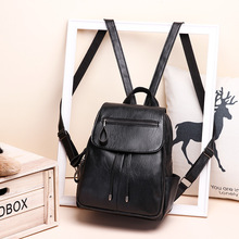 Backpack Female 2020 New Fashion Korean Style All-match Fashion Soft Leather Women Small Backpack Female Student Bag Women Bag tide fashion female korean backpack all match shoulders
