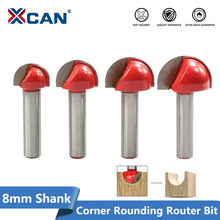 XCAN 1pc 8mm Shank Corner Rouding Router Bit 16/19/22/25mm Round Router Bit Wood Trimming Cutter Radius Wood Milling Cutter