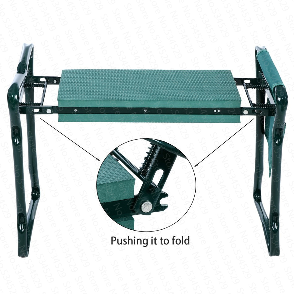 5% 2019 NEW HOT Sale Multifunctional  Folding Garden Kneeler And Seat Pouches Bearing 150KG TV Products Random Color
