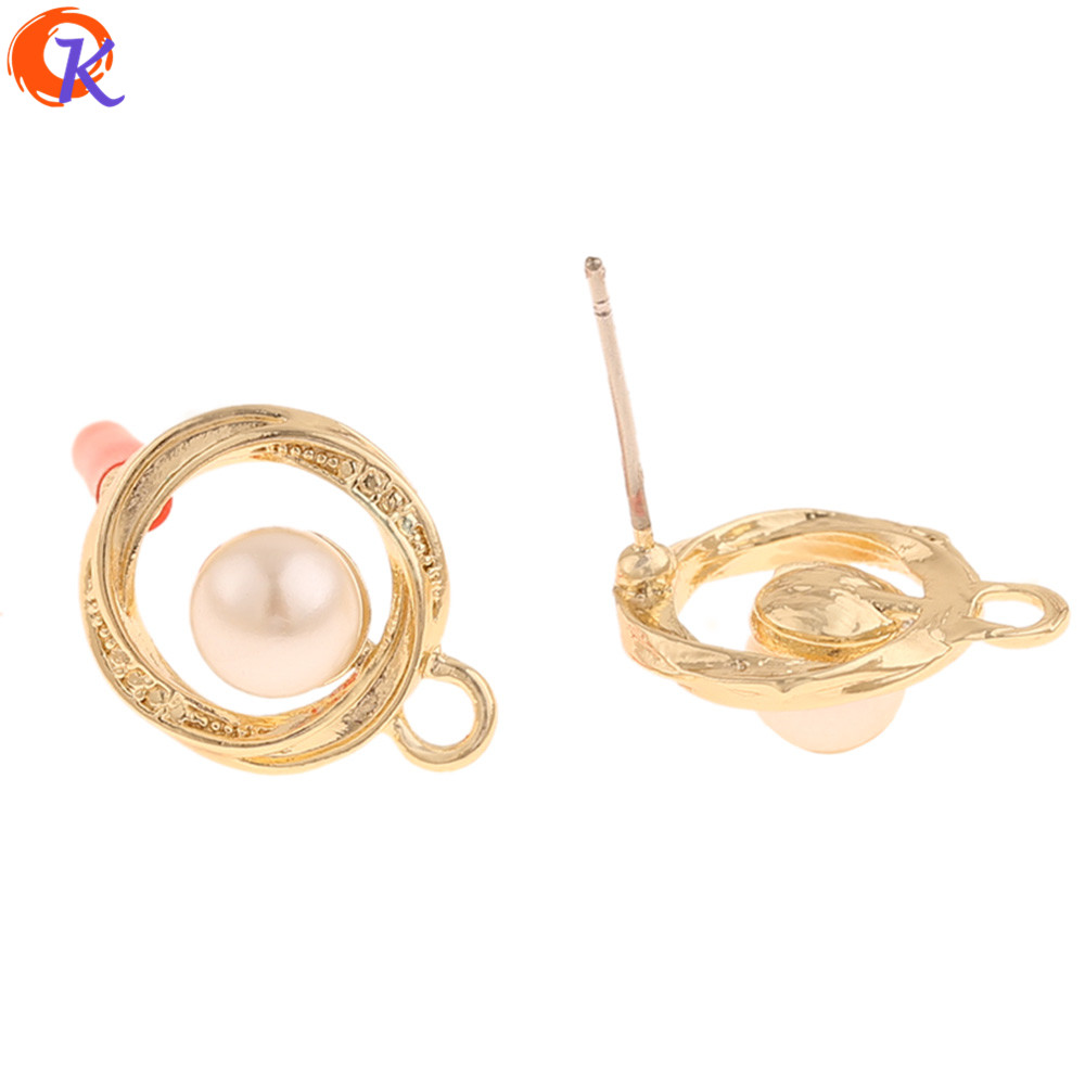 Cordial Design 100Pcs 12*15MM Jewelry Accessories/Earrings Stud/Imitation Pearl/DIY Jewelry Making/Hand Made/Earring Findings