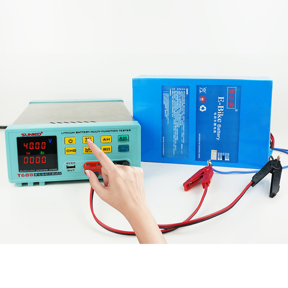 SUNKKO T688 18650 Lithium Battery Pack Battery Aging Test Discharge Internal Resistance Test Battery Tester Parameter Test