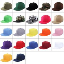 Baseball-Cap Blank Snapback Brim Hip-Hop-Style Flat Women Men Summer Adjustable-Size