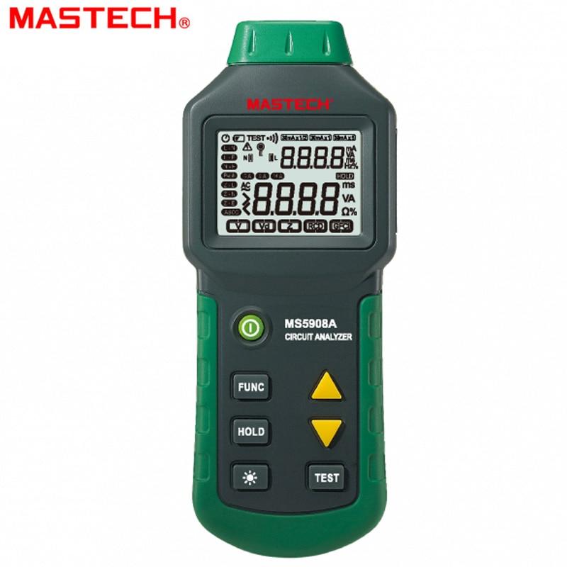 MASTECH MS5908A RMS testeur d'analyseur de Circuit avec testeur de prise de Test sûr idéal 110V RCD GFCI Test de prises
