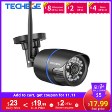 Techege 1080P WIFI IP Camera Audio Record 2.0MP Wireless Camera Outdoor Onvif Night Vision Waterproof Camera TF Card RU ES Stock