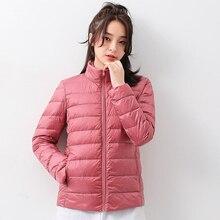 Women Winter Down Jacket 2020 New Ultra Light 90% White Duck