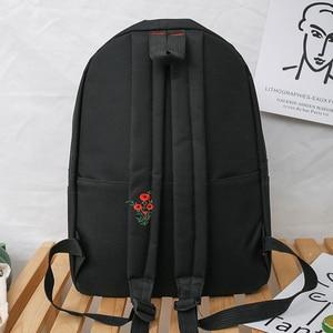 Image 3 - New Trend Female Backpack Fashion Solid Color Women Backpack Waterproof Teenage Girls School Bags Casual Shoulder Bag Female