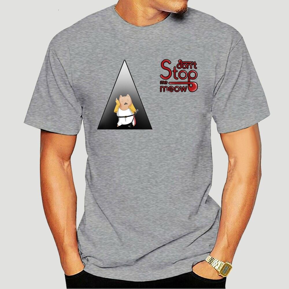 Ne m'arrêtez pas miaou chat drôle Freddy Mercury hommes noir T-Shirt taille S - 3Xl personnalisé sérigraphie T-Shirt Shirt-2427D