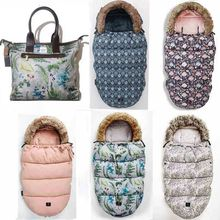 Baby Footmuff Stroller Sleeping-Bag Warmer with Fake-Fur-Collar Waterproof