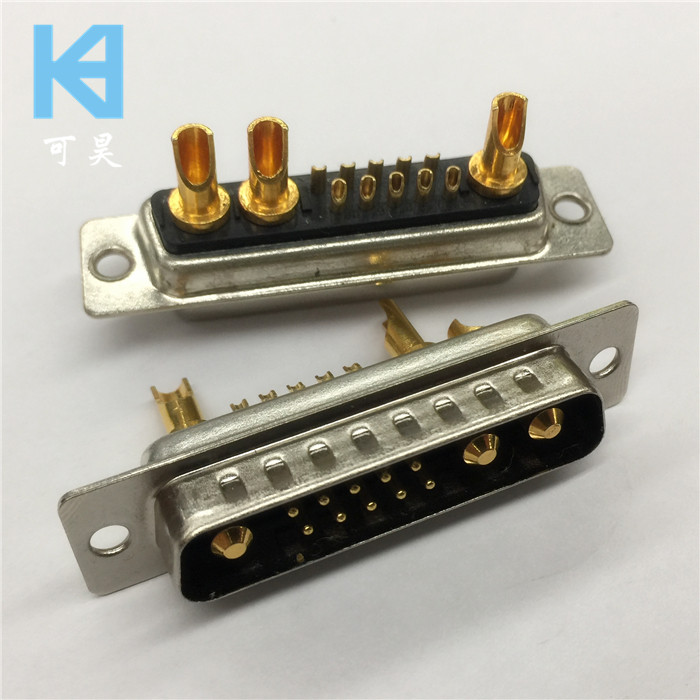 Heavy-duty High-current D-SUB Connector 13W3 Male
