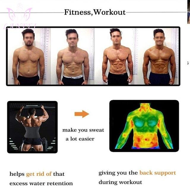 LANFEI Men Waist Trainer Cincher Sweat Belt Neoprene Body Shaper Slimming Tummy Control Corset Weight Loss Workout Fitness Strap 1